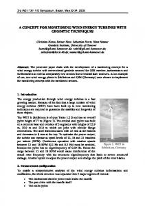 a concept for monitoring wind energy turbines with geodetic techniques