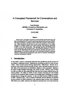 A Conceptual Framework for Conversations and
