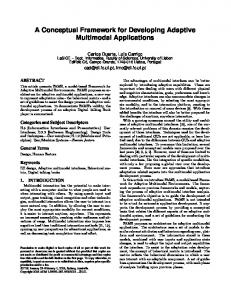 A Conceptual Framework for Developing Adaptive Multimodal ...