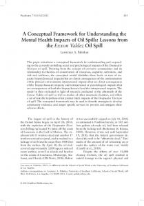 A Conceptual Framework for Understanding the Mental Health ...