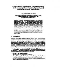 A Conceptual Model and a Tool Environment for Developing ... - WebML
