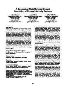 A Conceptual Model for Agent-based Simulation of Physical Security ...