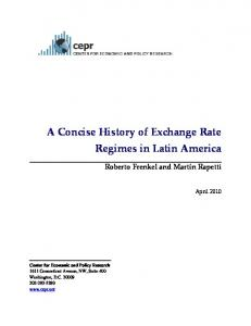 A Concise History of Exchange Rate Regimes in Latin America