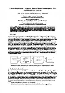 a concurrent neural network - genetic programming ... - Ajith Abraham