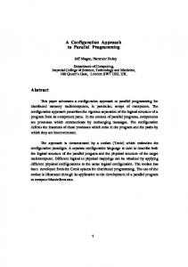 A Configuration Approach to Parallel Programming ... - Semantic Scholar