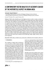 a confirmatory factor analysis of accidents caused by the motorcycle ...