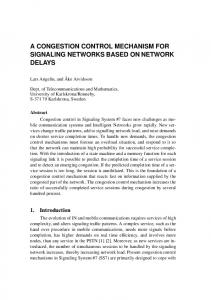 a congestion control mechanism for signaling networks based on ...