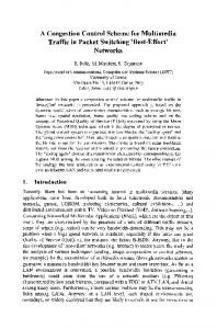 A congestion control scheme for multimedia traffic in ... - Springer Link
