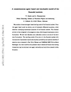 A consentaneous agent based and stochastic model of the financial ...