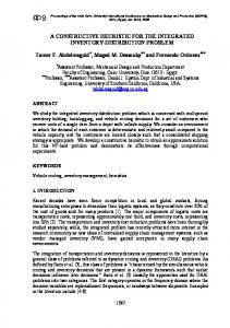 A CONSTRUCTIVE HEURISTIC FOR THE ... - Optimization Online