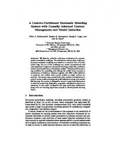 A Context-Partitioned Stochastic Modeling System