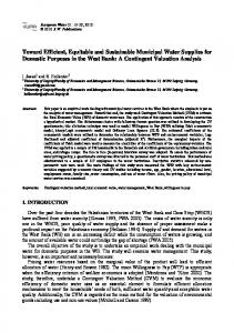 A Contingent Valuation Analysis - European Water Resources ...