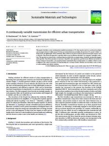 A continuously variable transmission for efficient urban ... - Core