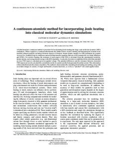 A continuum-atomistic method for incorporating Joule heating into ...
