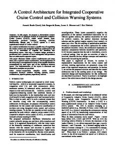 A Control Architecture for Integrated Cooperative Cruise ... - C3UV