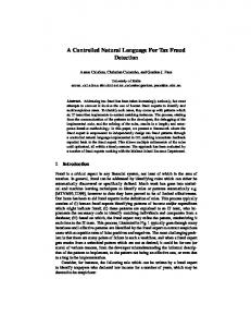 A Controlled Natural Language For Tax Fraud ... - University of Malta