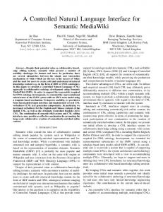 A Controlled Natural Language Interface for ... - Semantic Scholar