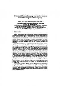 A Controlled Natural Language Interface for Semantic Media Wiki ...