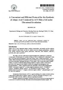 A Convenient and Efficient Protocol for the Synthesis of ... - Hindawi