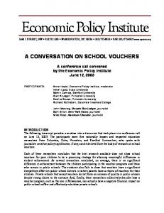 A Conversation on School Vouchers