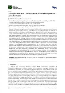 A Cooperative MAC Protocol for a M2M Heterogeneous Area Network
