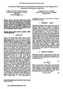 A correlation between dielectric permittivity and ...