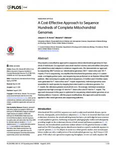 A Cost-Effective Approach to Sequence Hundreds