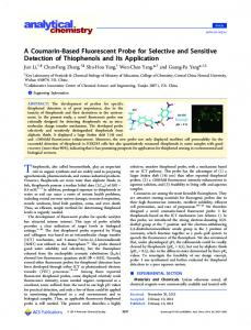 A Coumarin-Based Fluorescent Probe for Selective ... - ACS Publications