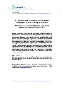 A Counterfactual Decomposition Analysis of Immigrants-natives ...