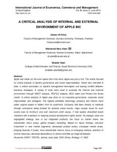 A CRITICAL ANALYSIS OF INTERNAL AND EXTERNAL ...