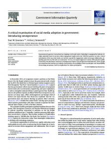 A critical examination of social media adoption in ...