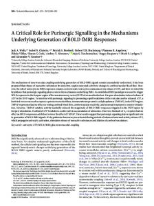 A Critical Role for Purinergic Signalling in the ... - Semantic Scholar