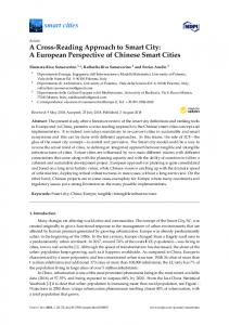 A Cross-Reading Approach to Smart City: A European ... - MDPI