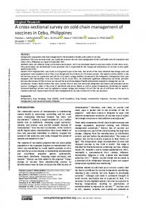 A cross-sectional survey on cold chain ... - Pharmacy Practice