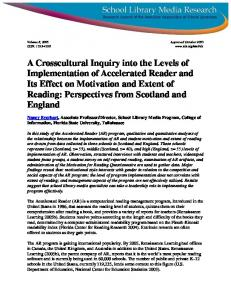 A Crosscultural Inquiry into the Levels of Implementation of ...