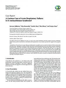 A Curious Case of Acute Respiratory Failure: Is It Antisynthetase ...