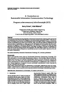 A Curriculum on Sustainable Information Communication Technology ...