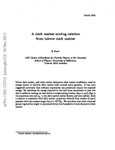 A dark matter scaling relation from mirror dark matter