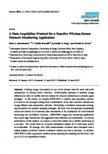 A Data Acquisition Protocol for a Reactive Wireless Sensor ... - MDPI
