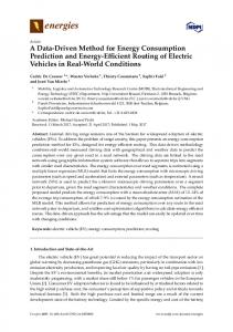 A Data-Driven Method for Energy Consumption Prediction and ... - MDPI