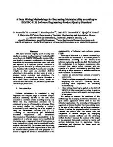 A Data Mining Methodology for Evaluating Maintainability according to ...