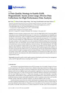 A Data Quality Strategy to Enable FAIR, Programmatic Access ... - MDPI