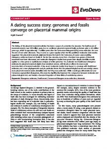A dating success story: genomes and fossils converge ... - Springer Link