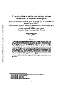 A decentralized scalable approach to voltage control of DC islanded ...
