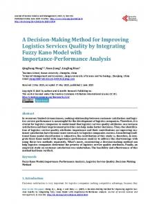 A Decision-Making Method for Improving Logistics Services Quality by