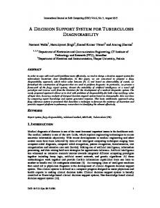 a decision support system for tuberculosis diagnosability