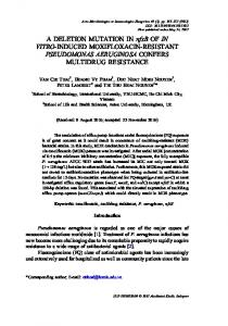 A DELETION MUTATION IN nfxB OF IN VITRO-INDUCED ...