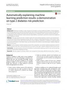 a demonstration on type 2 diabetes risk prediction - Semantic Scholar