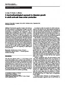 A dendroclimatological approach to diameter growth in adult cork-oak ...