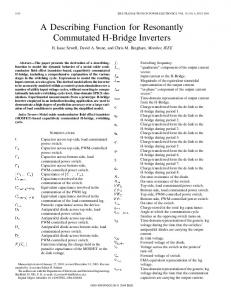 A Describing Function for Resonantly Commutated H-Bridge Inverters